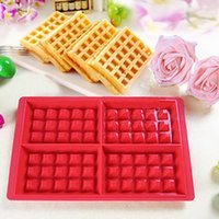 Wholesale Useful Cavity Waffles Cake Chocolate Pan Silicone Mold Baking Mould Baking Tools for Home
