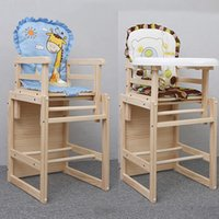 adjustable chair table - Hot Sales Baby Feeding Seat Solid Wood Adjustable Infant Highchair Kids Dining Table Seats Feeding Desk Dinette VT0440