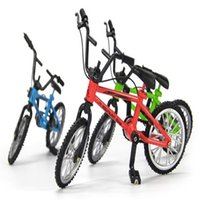 Wholesale Alloy Mini Finger BMX bike toys Model Bicycle Fixie with Spare Tire Tools toy Finger bikes boy gift