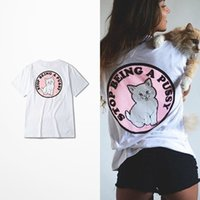 Wholesale Letter Printing RIP N DIP Cheap Cat Pink Tide Brand Hip hop Street Skateboard Harajuku Japanese T shirt Men and Women T Shirts