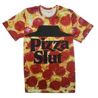 V-Neck bad food - Alisister New Fashion men women s D T Shirt Print Pizza Slut Breaking Bad Funny Food t shirt Summer Harajuku Tshirt XXL