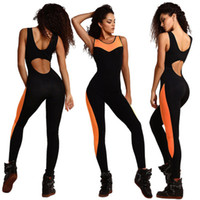 american drain - 2017 New Fashion Sports Style Sportswear European And America Style Tight Fitting Sexy Mosaic Hollow Drain Back Slim Tracksuits B