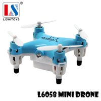 Wholesale Mini Quadcopter Lishi L6058 G Tiny Pocket Drone Rc Helicopter Remote Control toys JJRC H8Mini Quadcopter dron pocket small
