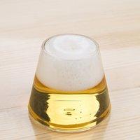 Wholesale new arrival Fujiyama shape beer steins glass cup google glassware high borosilicate glass tumblers