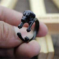 Wholesale 10pcs Antique Silver Bronze Labrador Retriever Rings Adjustable Animal Dog Breed Perro Rings for Women Anels