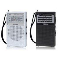 AM / FM bags portable stereo - Tecsun Portable FM AM Radio Stereo MP3 Player Antenna Receiver AM FM Broadcast Gift for Parents send Cloth Bag