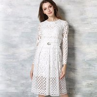 asos party dress - Asos Spring Fashion Hollow Out Elegant White Lace Elegant Party Dress High Quality Women Long Sleeve two color Dresses