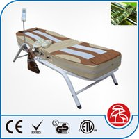 Wholesale 2016 Korea Good Quality Fashion Design Electric Iron Frame Full Body Therapy Jade Stone Massage Bed Table Christmas Gift