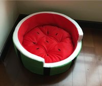 Wholesale Comfortable Family Pet Bed Summer Watermelon Pet Nest Nest Nest Kennel Fruit Small Dogs And Cats