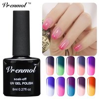 Wholesale Vrenmol Temperature Chameleon Nail Gel Polish Thermal Color Change UV GeL Soak Off Nail Varnish Changing Color Gel Lak
