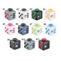 Wholesale 11 colors Fidget Cube stress relief toys for kids and adults Decompression Anxiety balls wisdom development toy magic cube