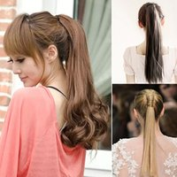Wholesale Long Curly Ponytail Hair Extension Wrap Around Ribbon Clip in Hairpiece