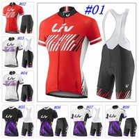 Wholesale LIV Cycling Jerseys Short Sleeves MTB Summer Style For Women Ropa Ciclsimo Colors With Bib None Bib Shorts Size XS XL