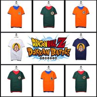 Wholesale 2016 New Cartoon t Shirts For Men Dragon Ball Character Cotton Mens t Shirts Creative False Two Piece Cosplay Couple Shirt Tops
