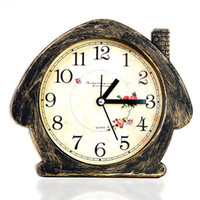 antique bedside clock - European Retro Nostalgia House Desk Clock Bedroom Bedside Alarm Clock Creative Silver Bronze Color House Table Clock