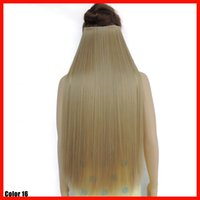 Wholesale ash blonde hair extensions cabelo human haar extension cheveux straight clip in haarstukjes hairpiece inches color