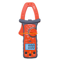 Wholesale Digits Digital LCD Clamp Multimeter Big Clamp Voltmeter Ammeter Buzzer OHM Tester With LED Light Meter