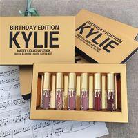 Wholesale Retail Gold Kylie Jenner lipgloss Cosmetics Matte Lipstick Lip gloss Mini Leo Kit Lip Kylie Birthday Limited Edition In Stock