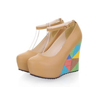 adhesive sponge - spring and autumn period new single super high heels shoes waterproof Taiwan sponge princess female shoes wedges shoes lady big yards