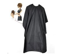 Wholesale Hairdressing Tools Cut hair around the cloth waterproof cloth Wai adult release cm black