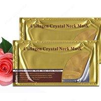 Wholesale Pro Gold Collagen Crystal Neck Mask Collagen Neck Lift Masks Gold Crystal Neck Mask