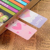 Wholesale Cute Kawaii Rabbit PVC Bookmarks Lovely Heart Book Markers For Books Korean Stationery