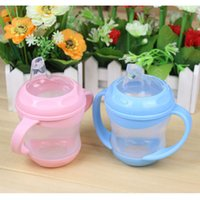 Wholesale Baby child leak proof drinking cup silica gel training cup with handle Duckbill Baby Milk Sippy Cup