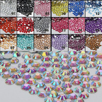 Wholesale mm FlatBack Facet Rhinestones DIY Nail Art Mobile Phone SS6 Loose Beads Stones Crystal AB Colors for Slection