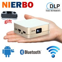 Vente en gros Mini Projecteur de poche Portable Beamer LED Projecteur Android Smart Lecteur multimédia Home Cinema Théâtre HDMI MHL Wifi Bluetooth