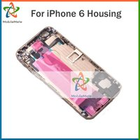 Wholesale For iPhone Full Housing Complete Back Battery Cover Middle Frame Metal Gray Gold Sliver Replacement Part