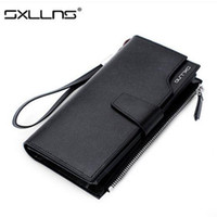 Wallets Men Credit Card Hot Men Wallets Large Capacity Brand Mens Wallet Purse Genuine Leather Clutch Bags Long Wallet Credit Card Holder Free Shipping