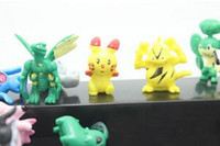 Wholesale 144 Poke Monster Pikachu Toys PVC Cartoon Cosplay Movies Action Figure Decoration Doll Toys Children Kids Gifts CM SZ T02
