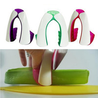 Wholesale New Safe Slice non slip soft grip Knife Guard Finger Protector Cover Cut vegetable protector
