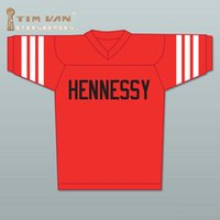 Wholesale TIM VAN STEENBERGE Prodigy Hennessy Queens Bridge Football Jersey Stitched Sewn Red size small S xl