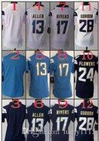 Wholesale 2016 Women NIK Game Football Stitched Chargers Allen Rivers Mathews Gordon Navy Light Blue White Dark Blue Jerseys