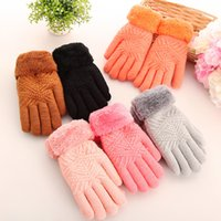 area orange - Ladies fashion thickening and fluffy cute mouth thick winter warm gloves More suitable for cold areas
