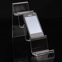 Jewelry Stand Cellphone Acrylic Fashion Clear Acrylic 4 Layers Phone Stand Cellphone Shelf Display Bracelet Holder Watch Mobile Phone Rack Jewelry Display Showcase