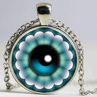Malos encantos ojo azul España-Moda Charm Suerte Turquía Azul Ojo Malvado Rhinestone Ojo Choker Collar cadena para las mujeres Bronce plateado Joyería
