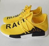 al por mayor amarillo zapatos de lona de los hombres-2016 FILIPINO II Párrafo RAZA HUMANA X NMD Pharrell Articulación Hombres Zapatos Zapatos Casual Deportes Red Hombres Zapatillas Running Canvas