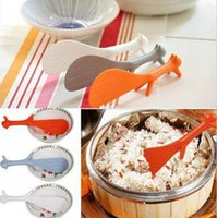 Wholesale Cute Style Lovely Kitchen Supplie Squirrel Shaped Ladle Non Stick Rice Paddle Meal Spoon set cubiertos viaje B035