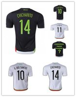 Wholesale AAA Thailand Quality Season Mexico Soccer Jerseys Uniform Football Jerseys Embroidery Logo Chicharito G Dos Santos C VELA