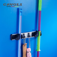 Wholesale Novelty Mop Rack Wall Mounted Broom Frame Position Advanced Wall Hooks Brand Bathroom Accessories Cavoli T02