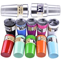 Wholesale colorful YETI Bilayer Stainless Steel Insulation Cup oz oz Cups Cars Beer Mug Large Capacity Mug dhl free OTH242