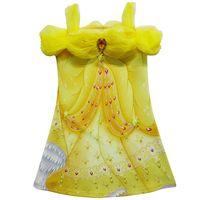 Les plus récentes robes de beauté et de bêtes de filles Impression en 3D Belle Princesse Robes Costume de cosplay Princess Slips Vêtements pour enfants