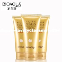 Wholesale BIOAQUA Brand Pure Pearls Extract Essence Facial Cleanser Skin Care Cleaning Rich Foaming Face Cleaner Whitening Moisturizing