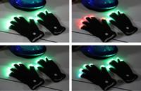 Wholesale Flash Color changing LED Glove Rave light led finger light gloves light up glove For Party favor music concert