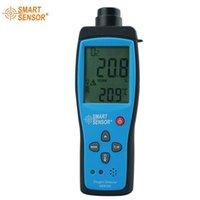 Vente en gros-AR8100 portable portable teneur en oxygène concentration O2 test de détection des instruments de mesure avec alarme 0-25%