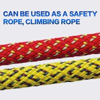 Wholesale Durable Climbing Ropes Outdoor Survival High Strength Professional Mountaineering Rock Camping Climbing Safety Rope Diameter mm mm red