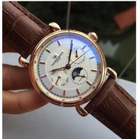 Wholesale 2016 New Brown Black Leather Fashion Mechanical Men s Stainless Steel Automatic Movement Watch Sports mens Self wind Watches Wristwatch
