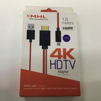Wholesale MHL Mobile High Definition Link K HDTV Adapter Micro USB Type For Samsung S3 S4 S5 i9300 i9308 i9500 and more